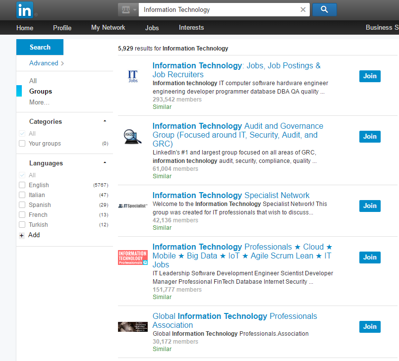 Join LinkedIn Groups to Optimize your Profile