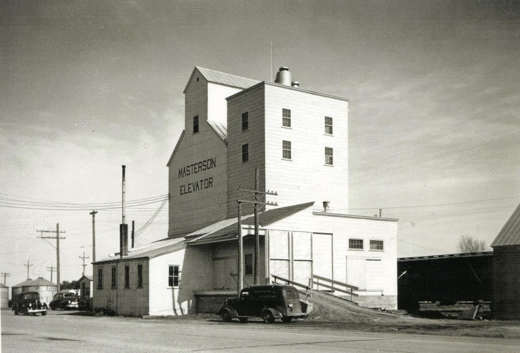 Owen Masterson's Grain Elevator in 1945