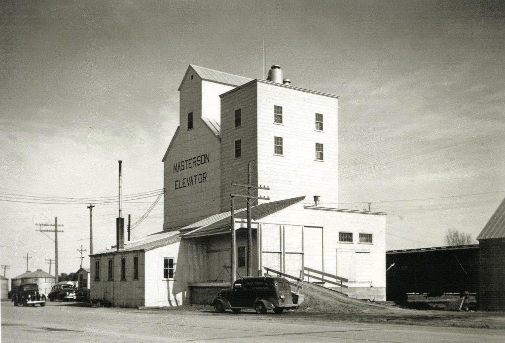 Owen Masterson's Grain Elevator in 1945